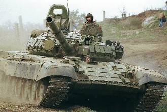 Russian T-72 Series Main Battle Tank with Anti-Missile Reactive Armor