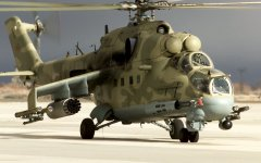 "Russian Mil Moscow Mi-24 ""Hind"" Attack Helicopter"