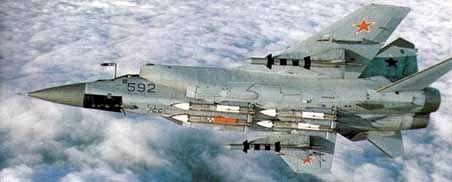 "Russian Mikoyan-Gurevich MiG-31 ""Foxhound"" Interceptor / Fighter"