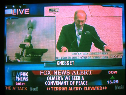 "Fox News reports Israeli Prime Minister Olmert seeks ""Covenant  of Peace"" July 17, 2006"
