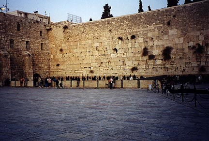 Jews at the Western Wall of the Second Temple to God in Jerusalem